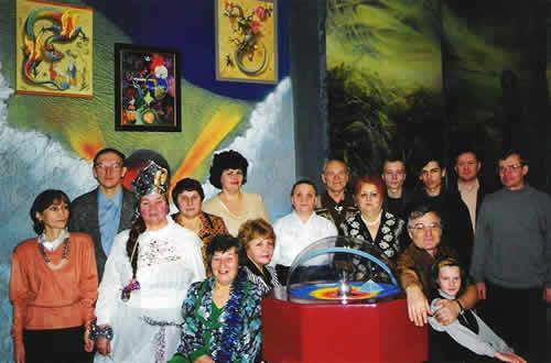 Сотрудники Уфимского планетария на встрече нового 2000 года